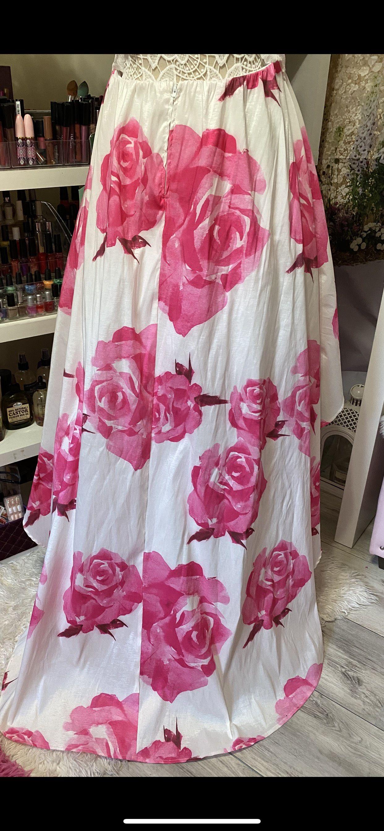 Pink Size 14 Side slit Dress on Queenly