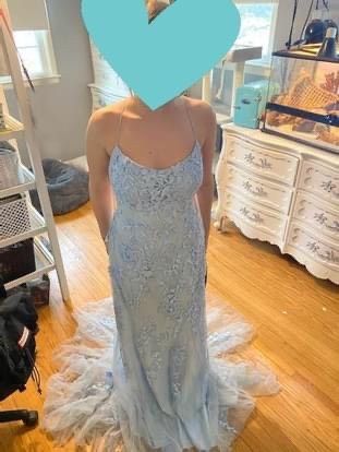 Blue Size 12 A-line Dress on Queenly