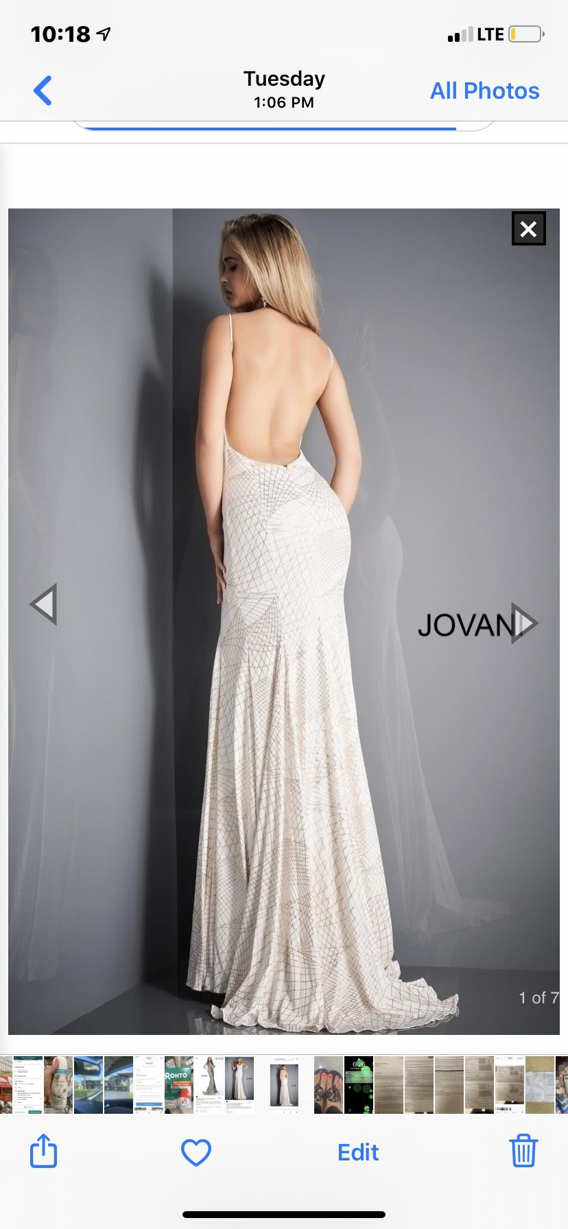 Jovani White Size 2 Wedding Backless Train Dress on Queenly