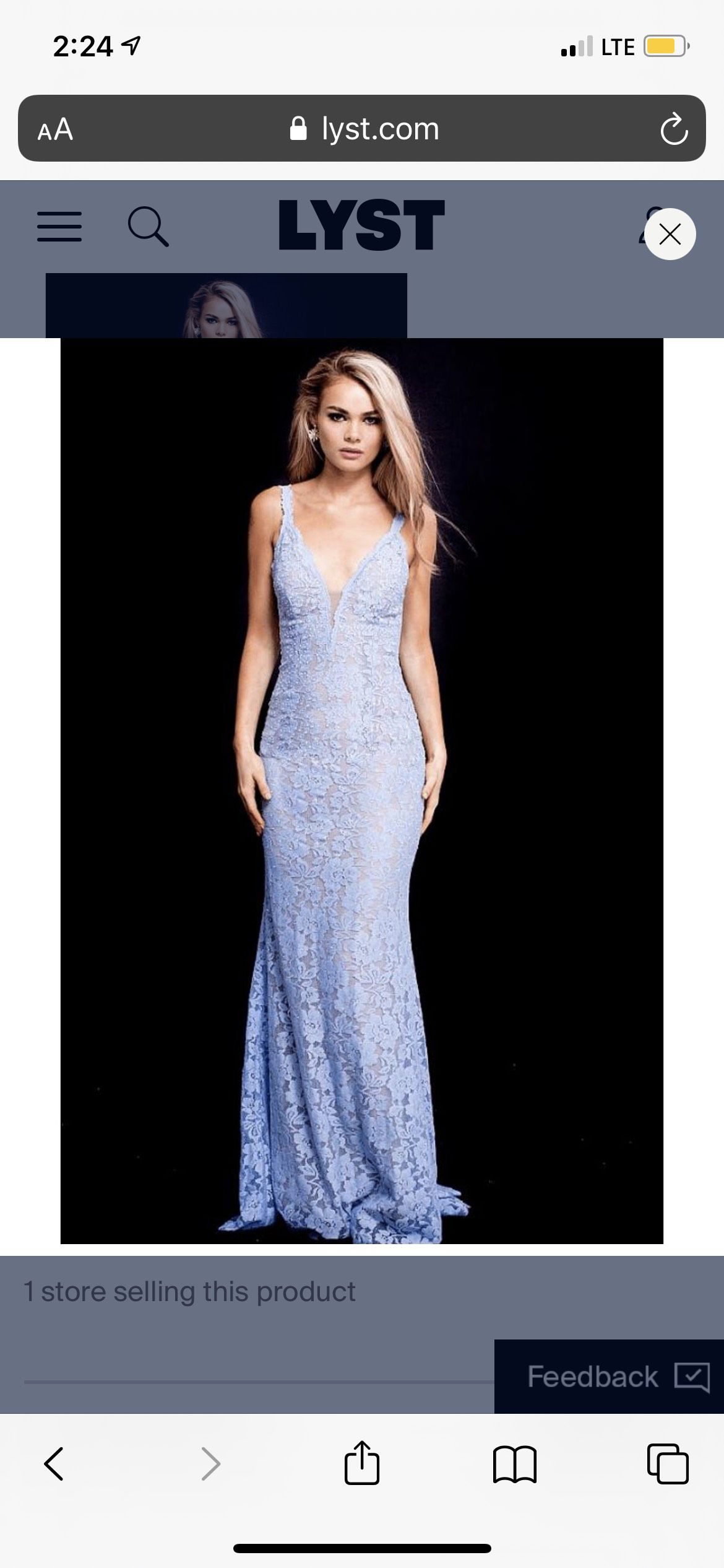 Jovani Blue Size 8 Sequin Jewelled Mermaid Dress on Queenly