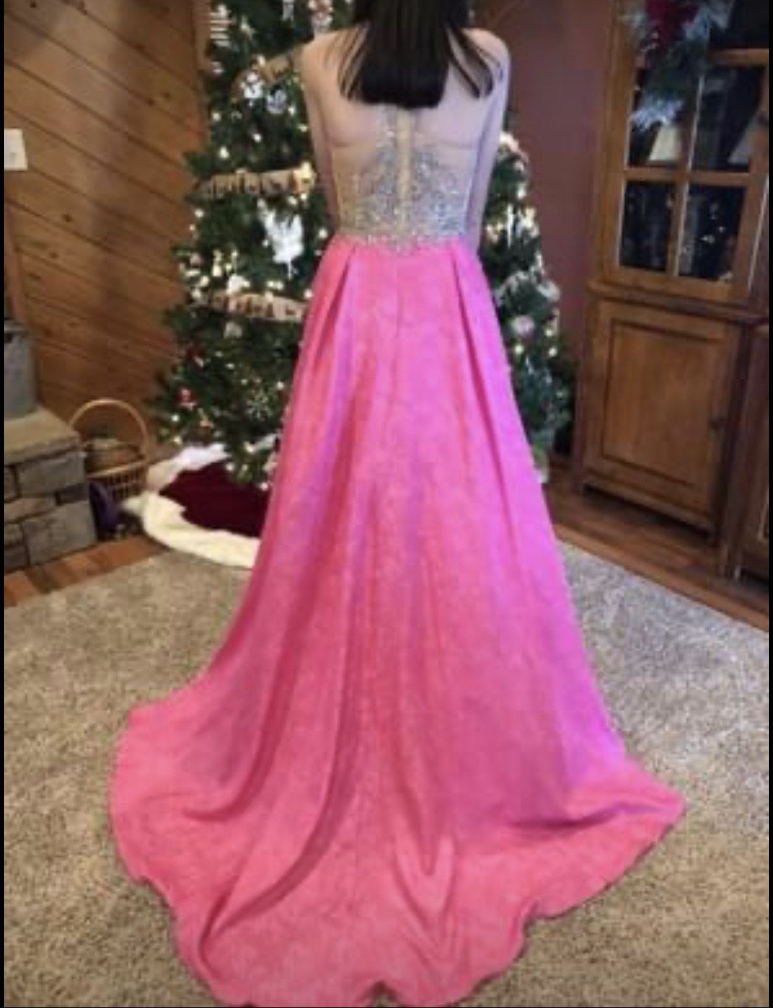 Tiffany Pink Size 2 Ball gown on Queenly