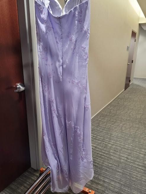 Style 505 Jovani Purple Size 22 Plus Size Tall Height Straight Dress on Queenly