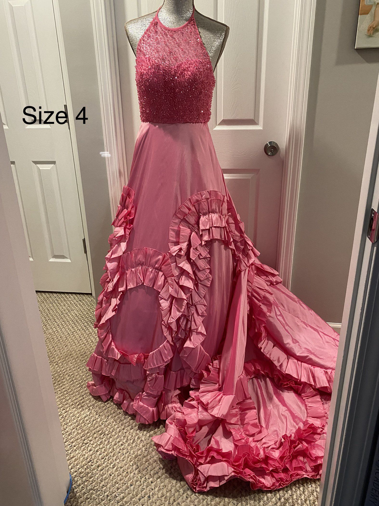 Sherri Hill Pink Size 4 Pageant Ball gown on Queenly