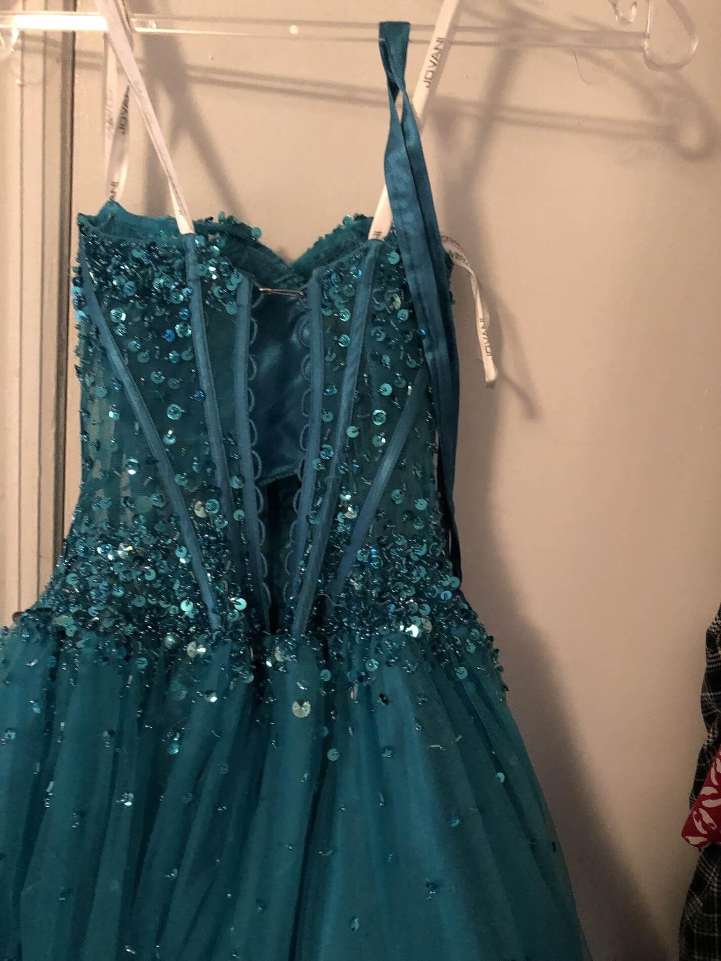 Jovani Blue Size 12 Quinceanera Corset Plus Size Ball gown on Queenly