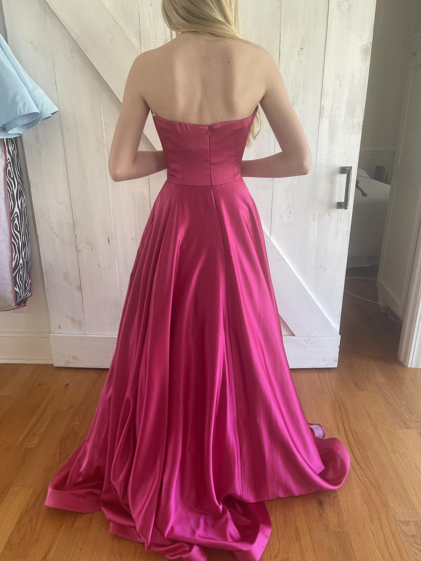 Jovani Pink Size 2 Strapless Ball gown on Queenly
