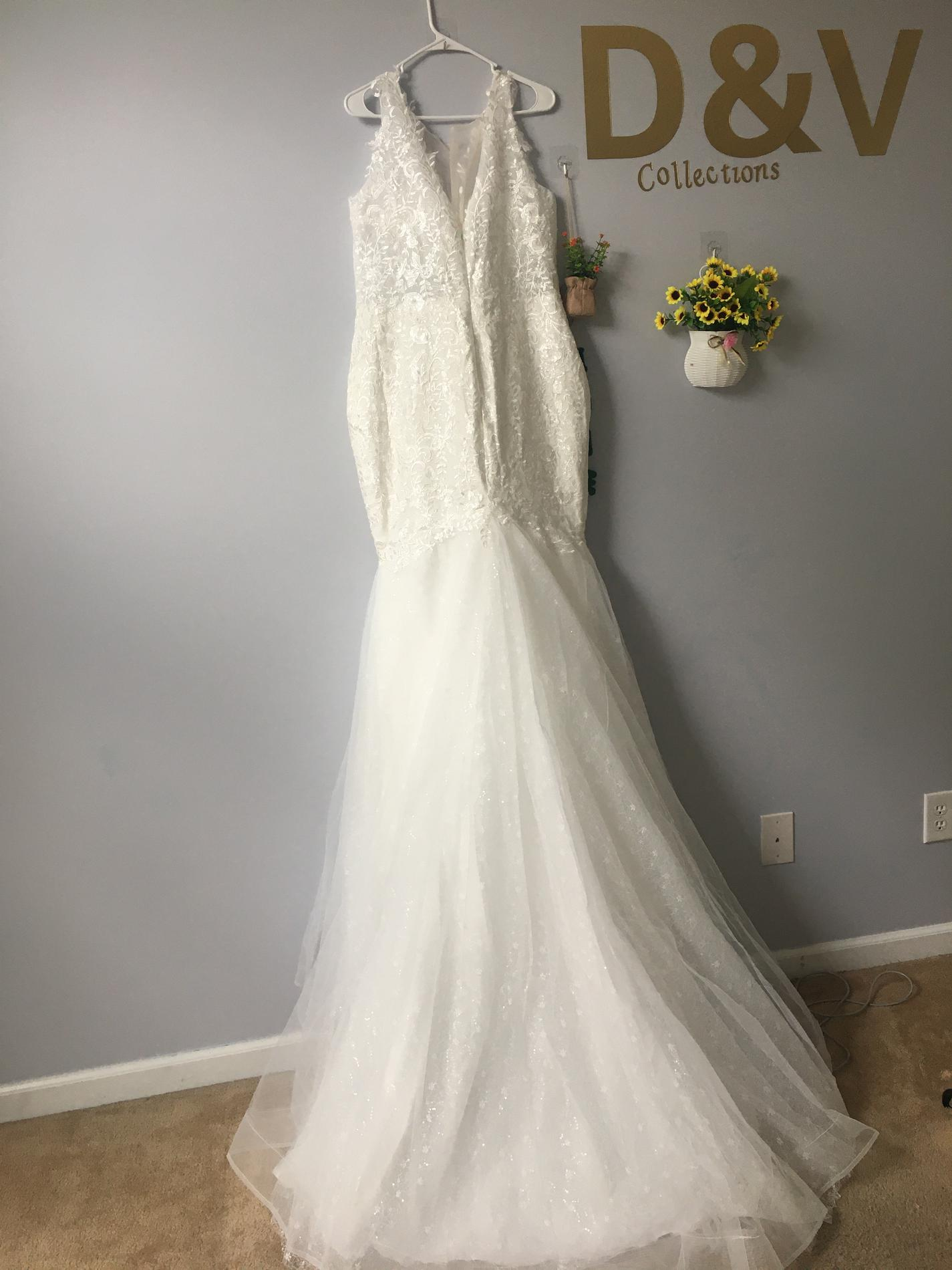 White Size 18 Mermaid Dress on Queenly