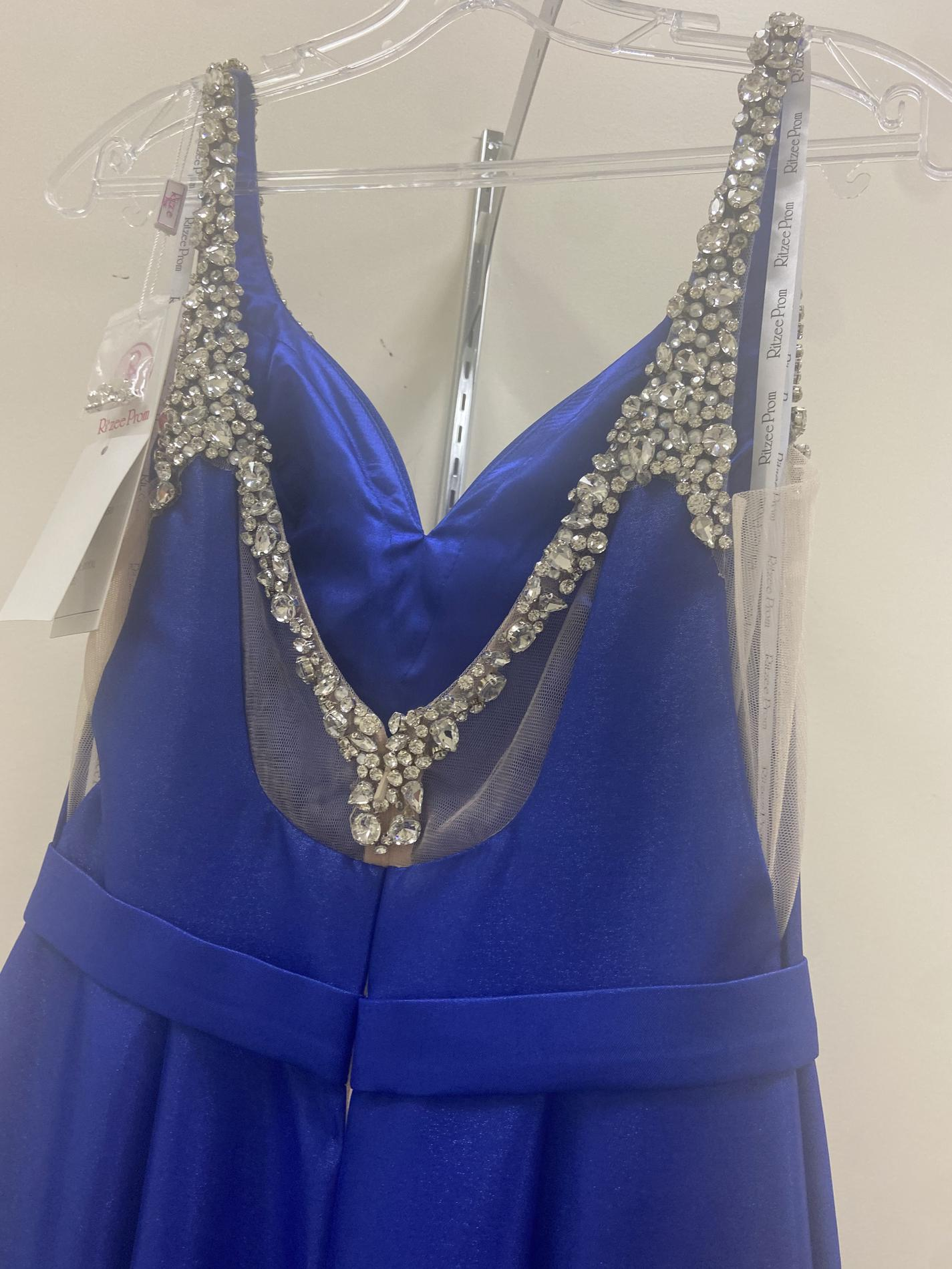 Ritzee Blue Size 4 Prom Pageant Mermaid Dress on Queenly