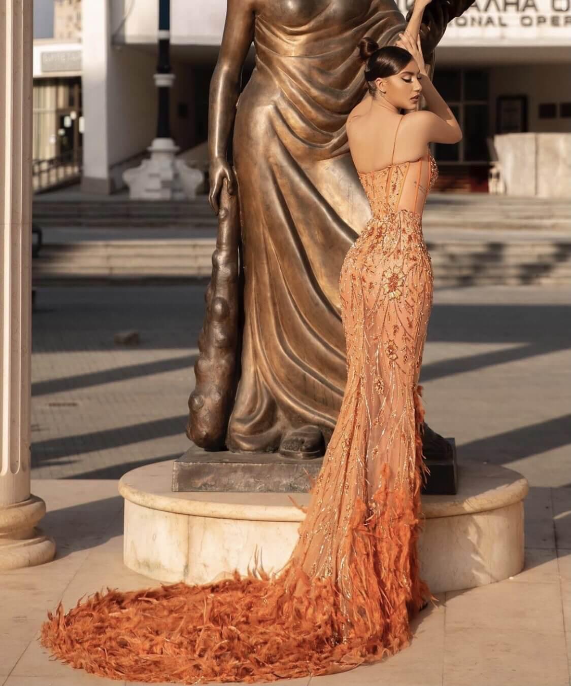 Orange Size 4 Mermaid Dress on Queenly