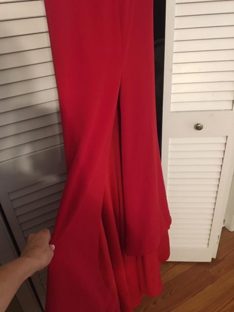 Style ? Tony Bowls Red Size 0 Custom Train Dress on Queenly