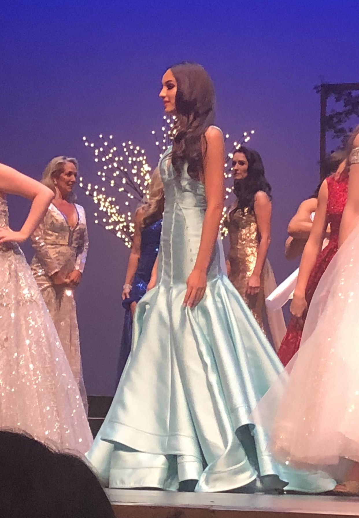 Mac Duggal Blue Size 00 Pageant Jewelled Mermaid Dress on Queenly