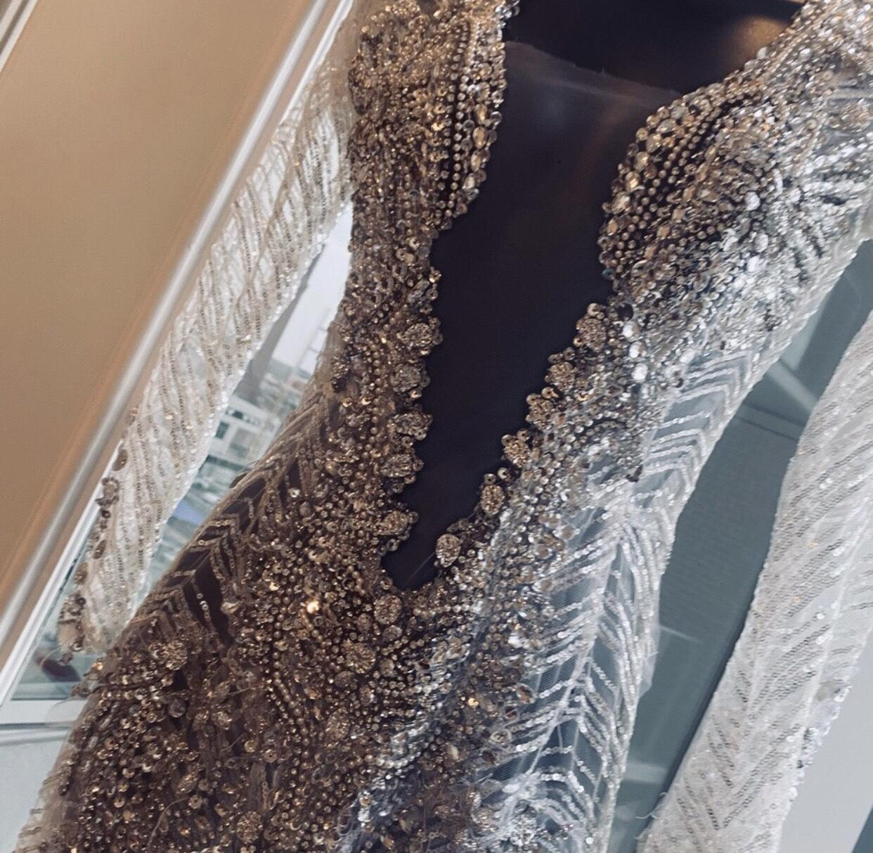 Silver Size 0 Mermaid Dress on Queenly