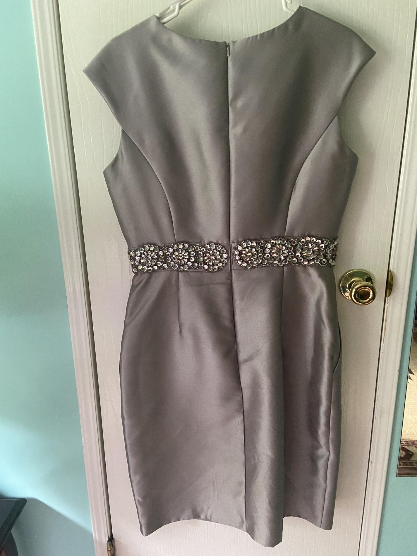 Silver Size 12 Straight Dress on Queenly