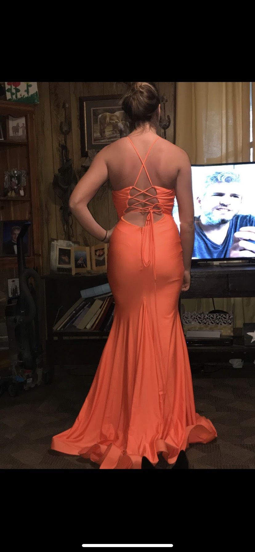 Orange Size 4 Mermaid Dress on Queenly