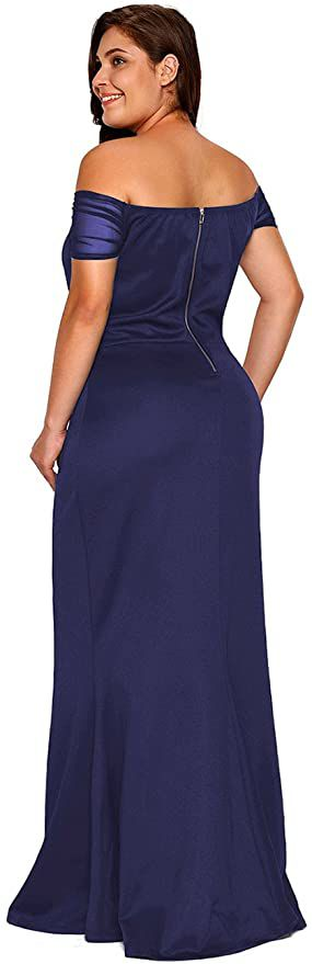 Style B073L9K7WH Lalagen Blue Size 20 Jersey Prom Plus Size Mermaid Dress on Queenly