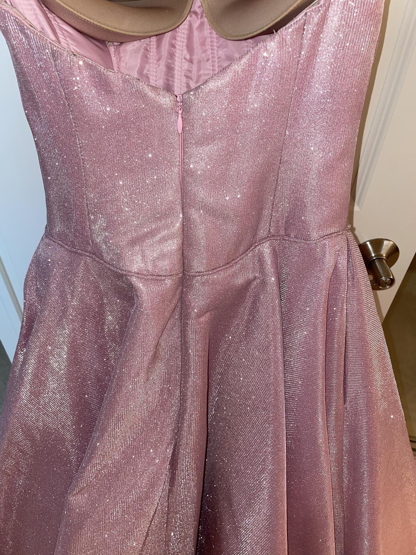 Tarik Ediz Pink Size 0 Tall Height Ball gown on Queenly