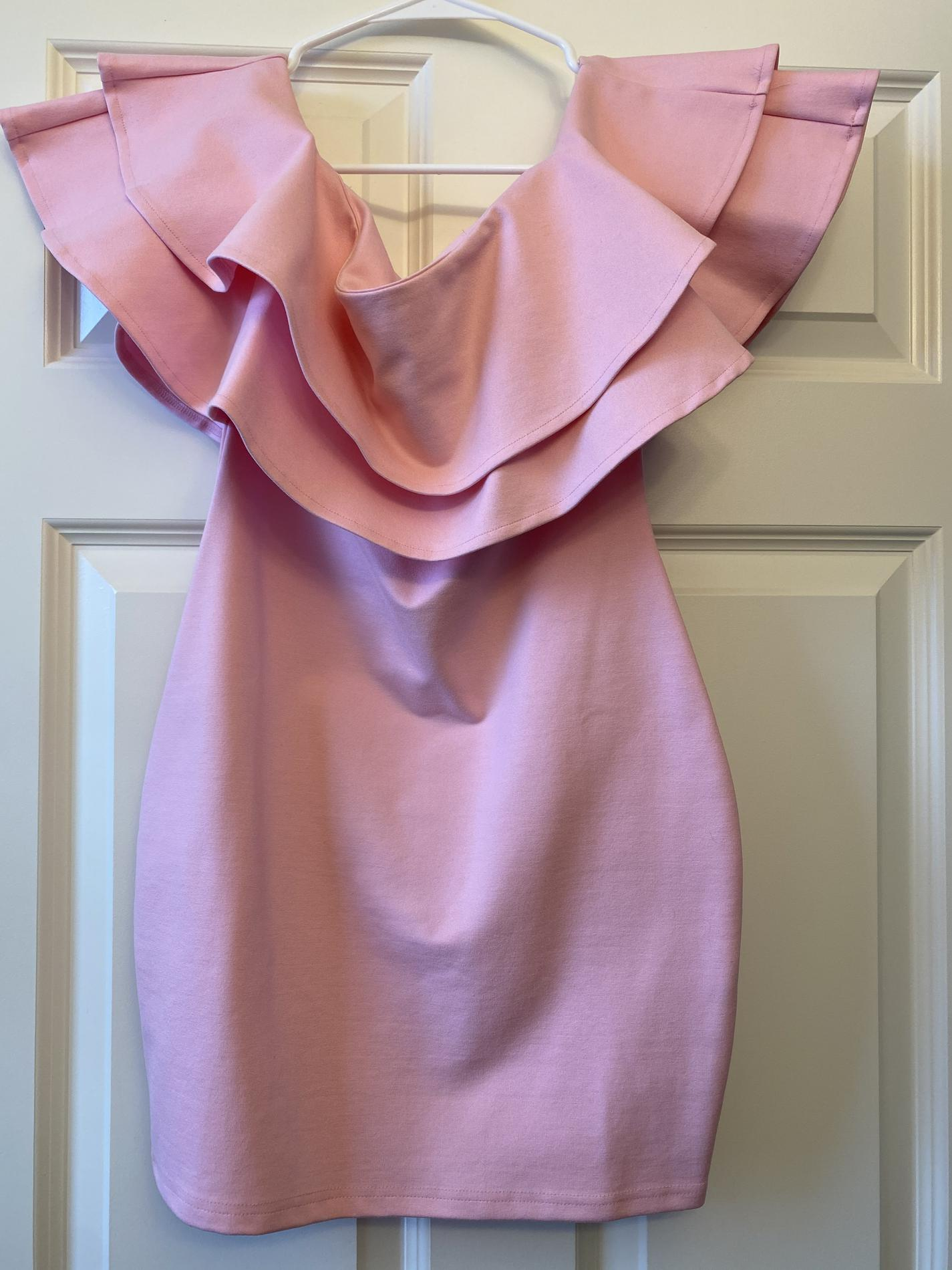 By The Way Pink Size 0 Sorority Formal Wedding Guest Jersey Graduation Cocktail Dress on Queenly