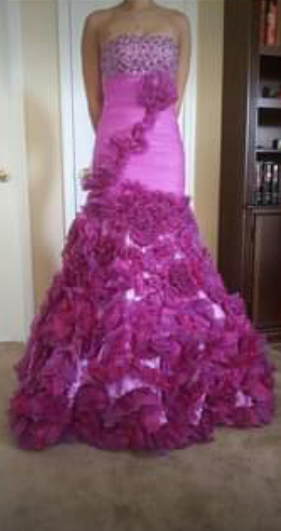 Jovani  Purple Size 00 Hot Pink Prom Ruffles Mermaid Dress on Queenly
