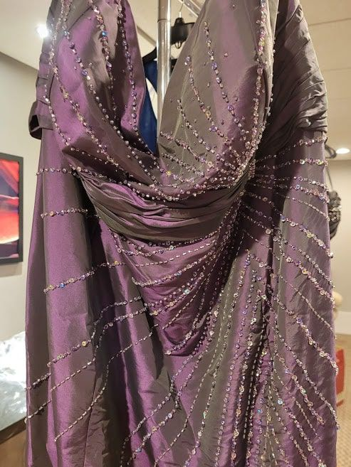 Style 5728W Madison James Purple Size 28 Tall Height Straight Dress on Queenly
