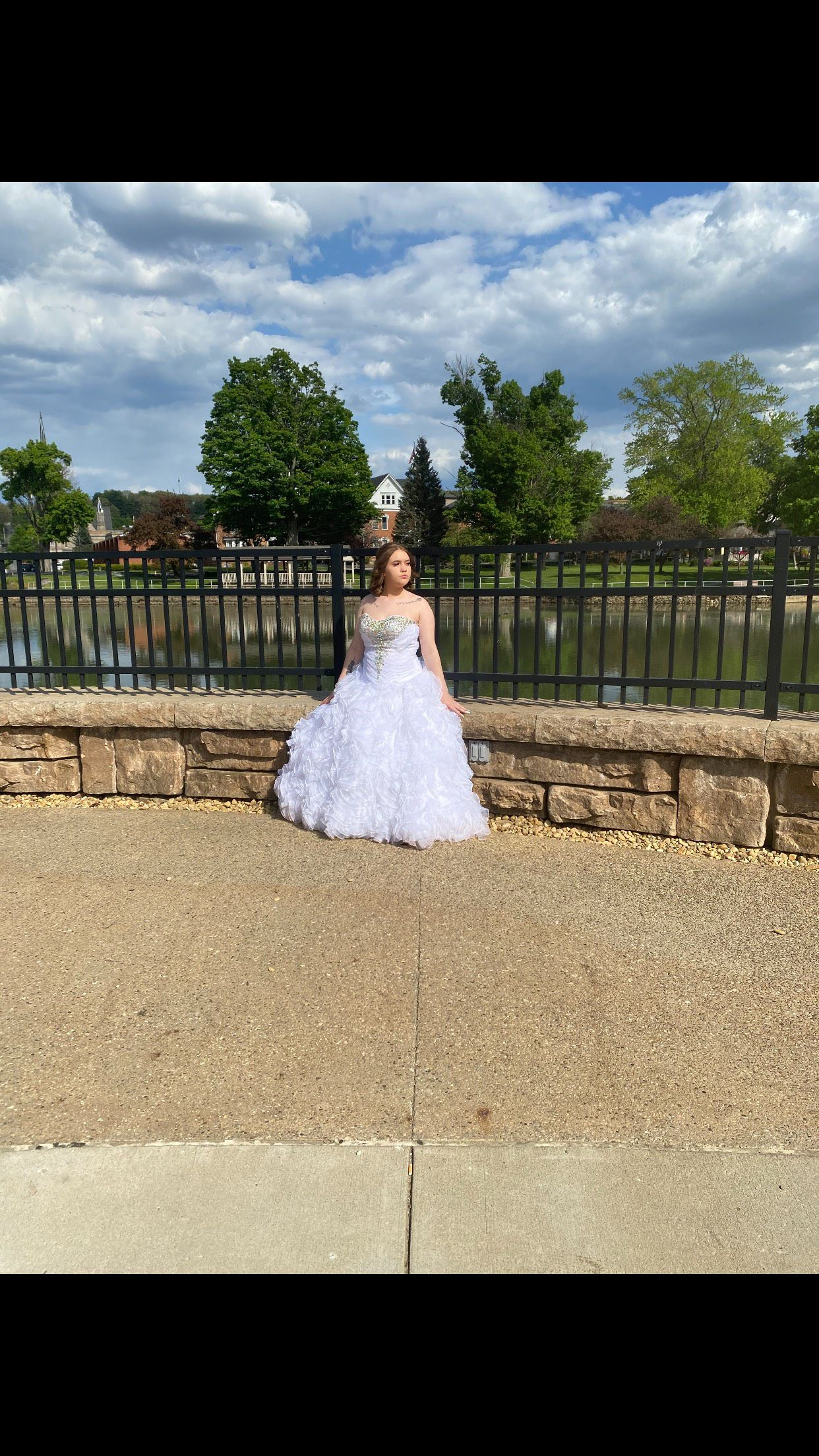 Tiffany Designs White Size 0 Prom Quinceanera Corset Ball gown on Queenly