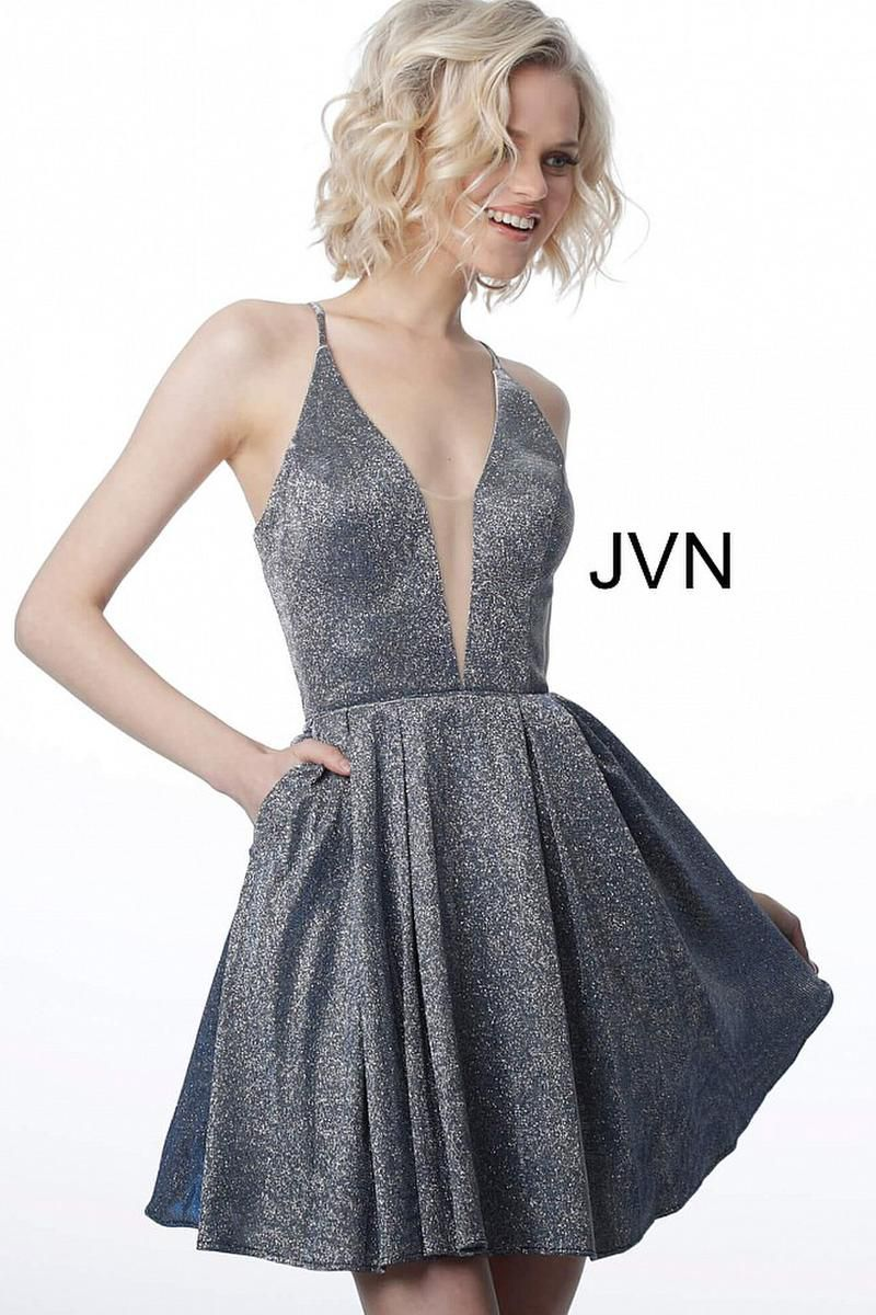Style JVN2173 Jovani Purple Size 8 Sorority Formal Tall Height Cocktail Dress on Queenly