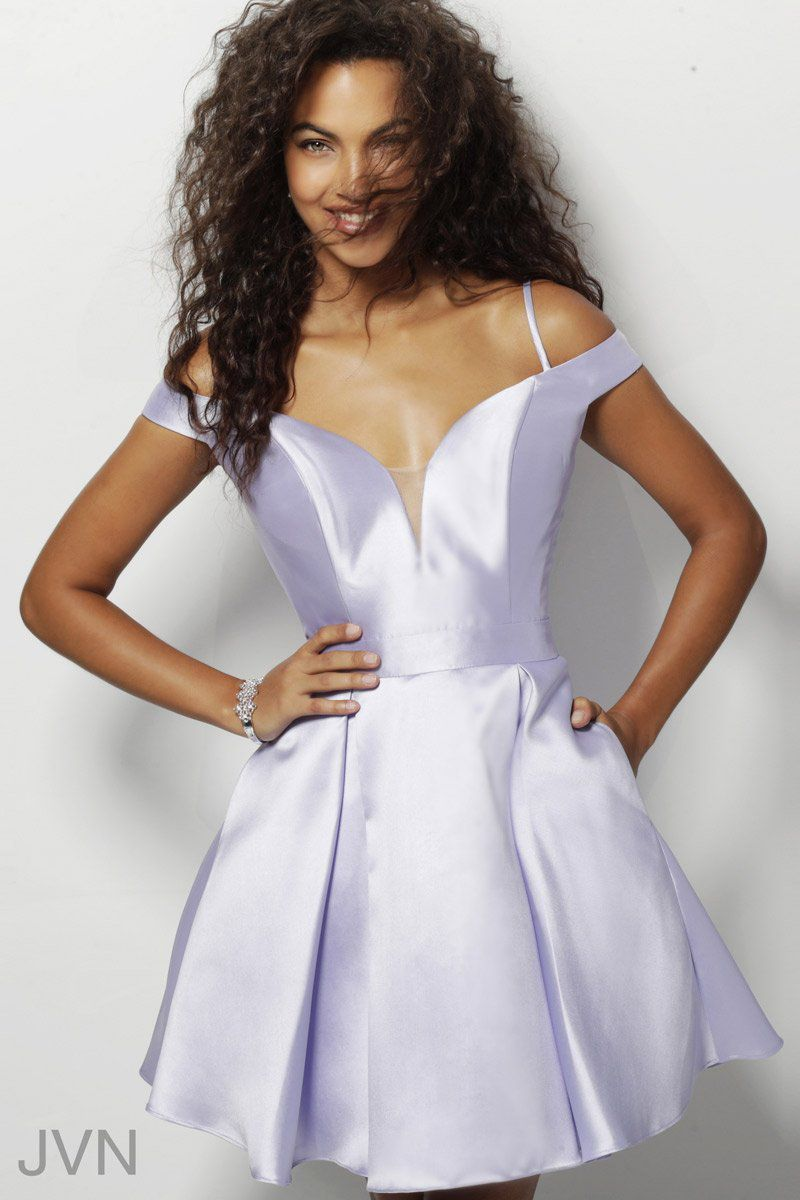 Style JVN62317 Jovani Purple Size 4 Sorority Formal Wedding Guest Cocktail Dress on Queenly