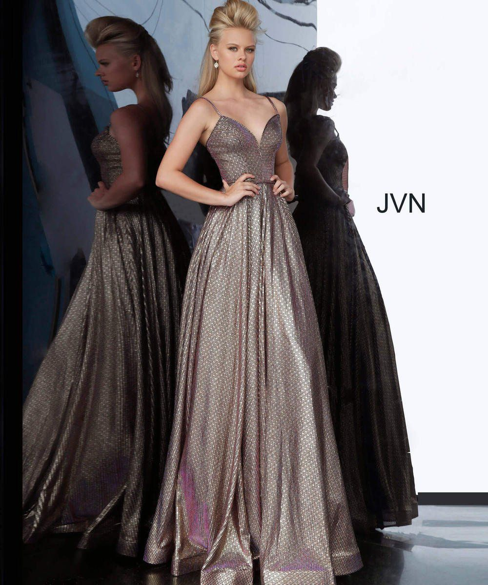 Style JVN02317 Jovani Gold Size 14 Prom A-line Dress on Queenly