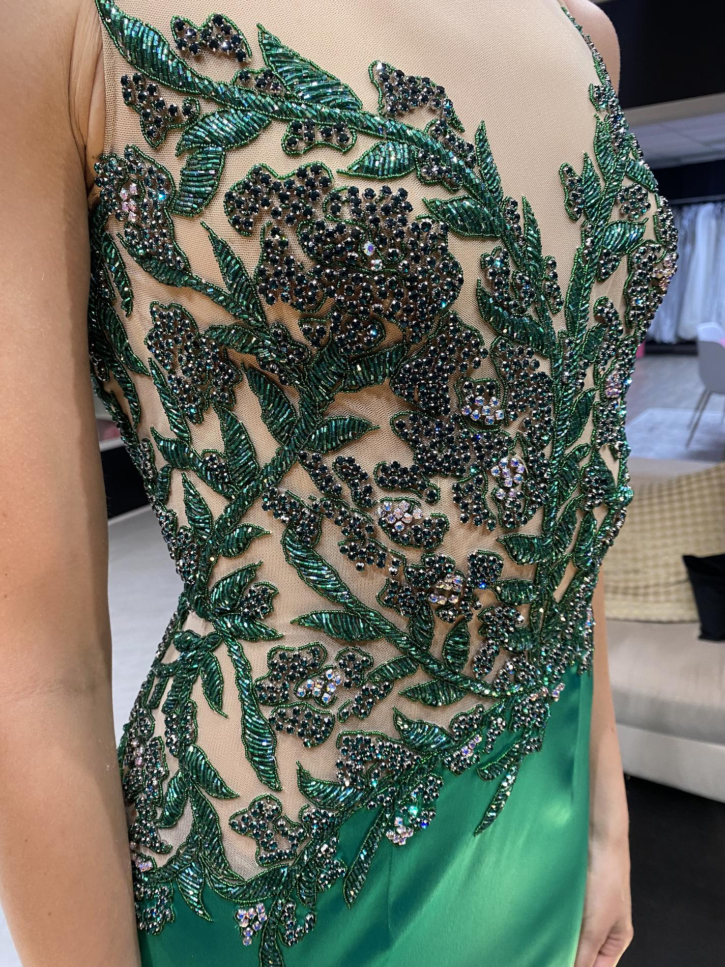 Sherri Hill Green Size 6 Sequin Jewelled Mermaid Dress on Queenly