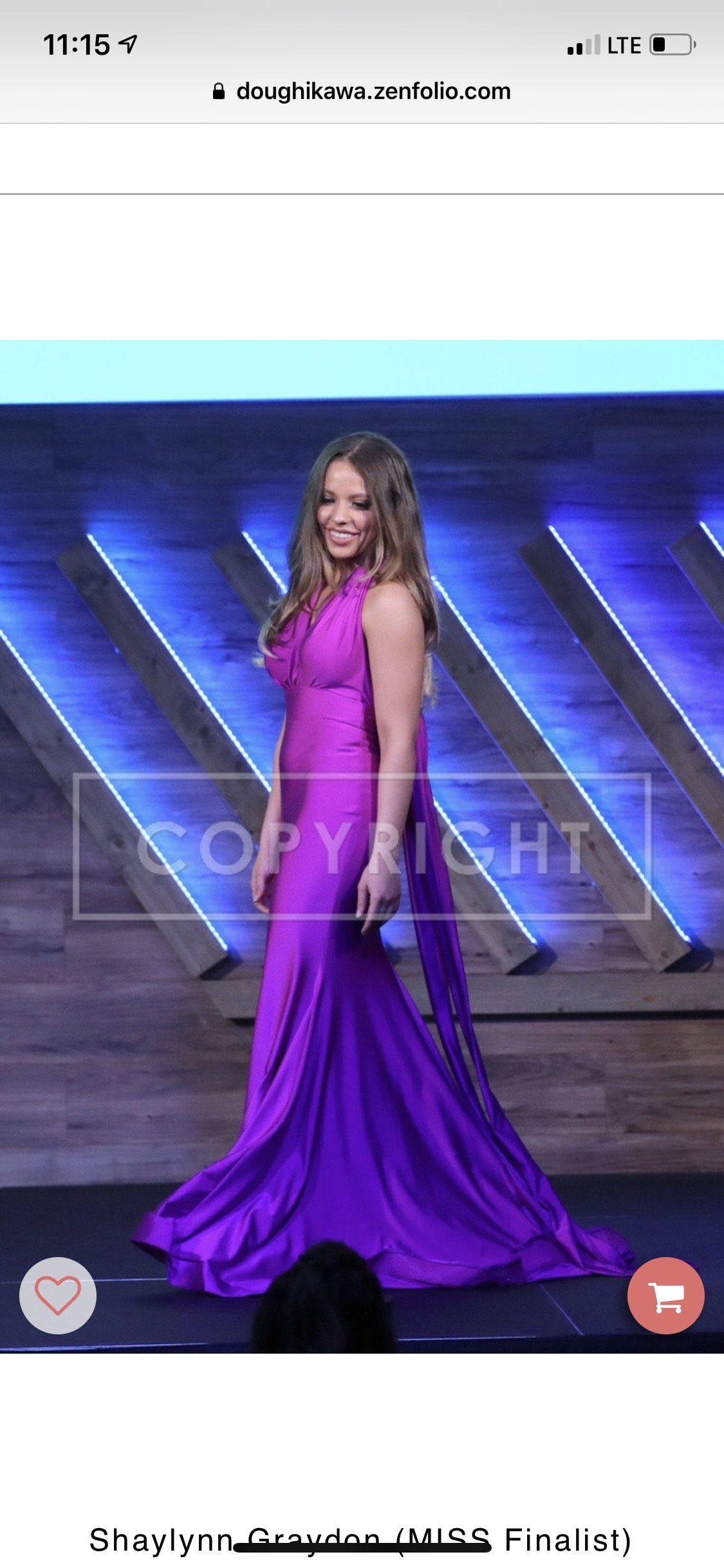 Jessica Angel Purple Size 4 Mermaid Dress on Queenly