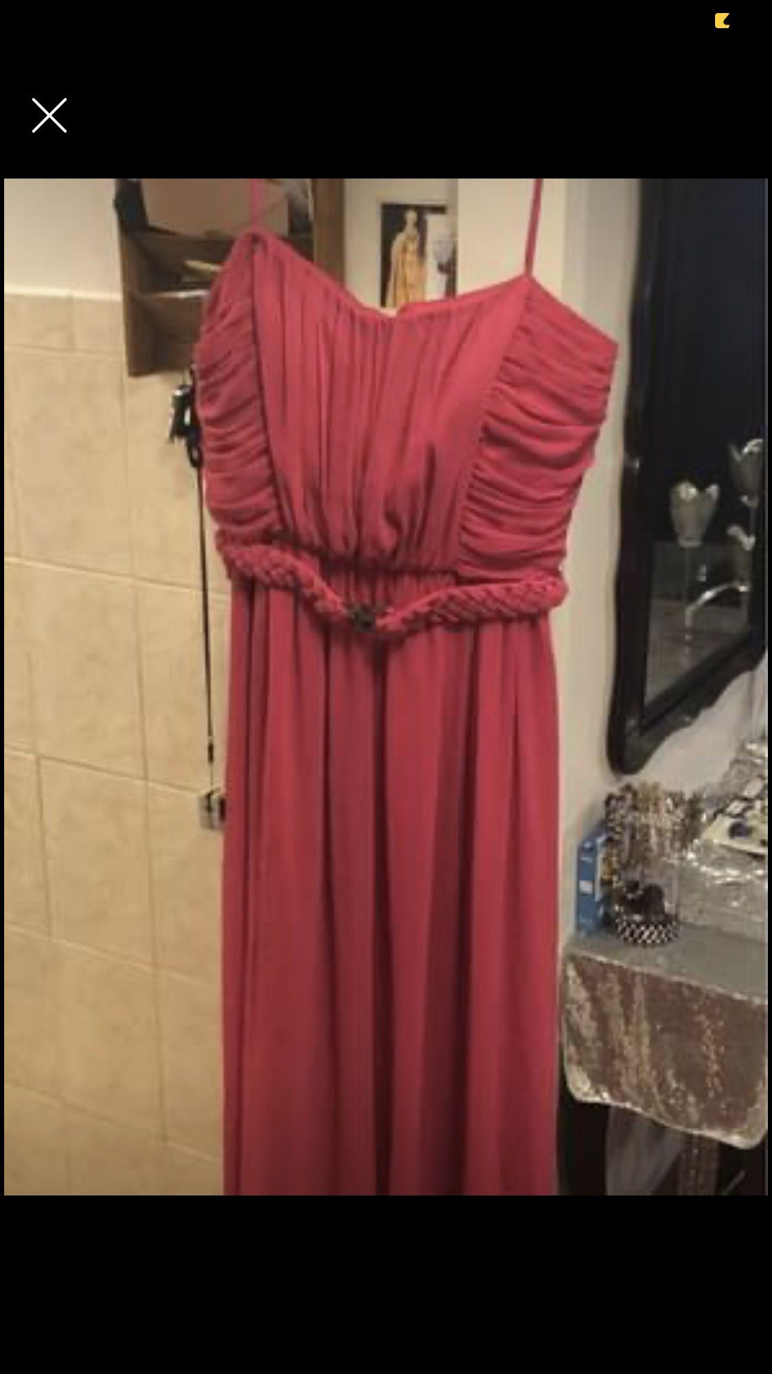Manacendelo Pink Size 14 Spaghetti Strap A-line Dress on Queenly