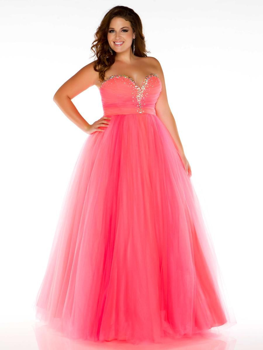 Style 2042F Mac Duggal Orange Size 26 Tall Height Ball gown on Queenly