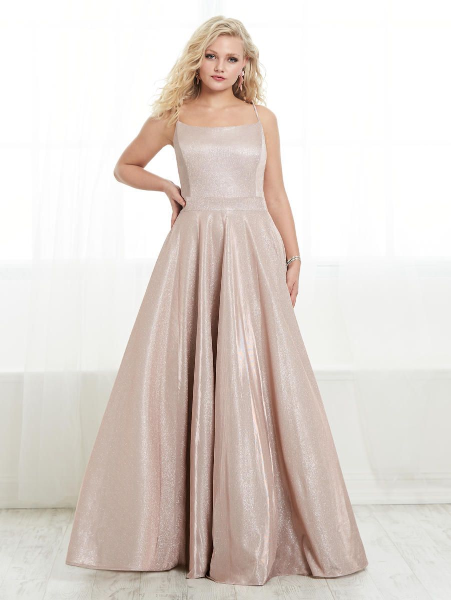 Style 16448 Tiffany Designs Pink Size 22 Train Tall Height A-line Dress on Queenly