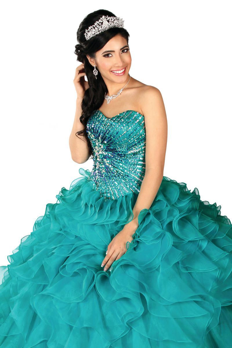 Style 2197 Karishma Creations Blue Size 14 Corset Plus Size Tall Height Ball gown on Queenly