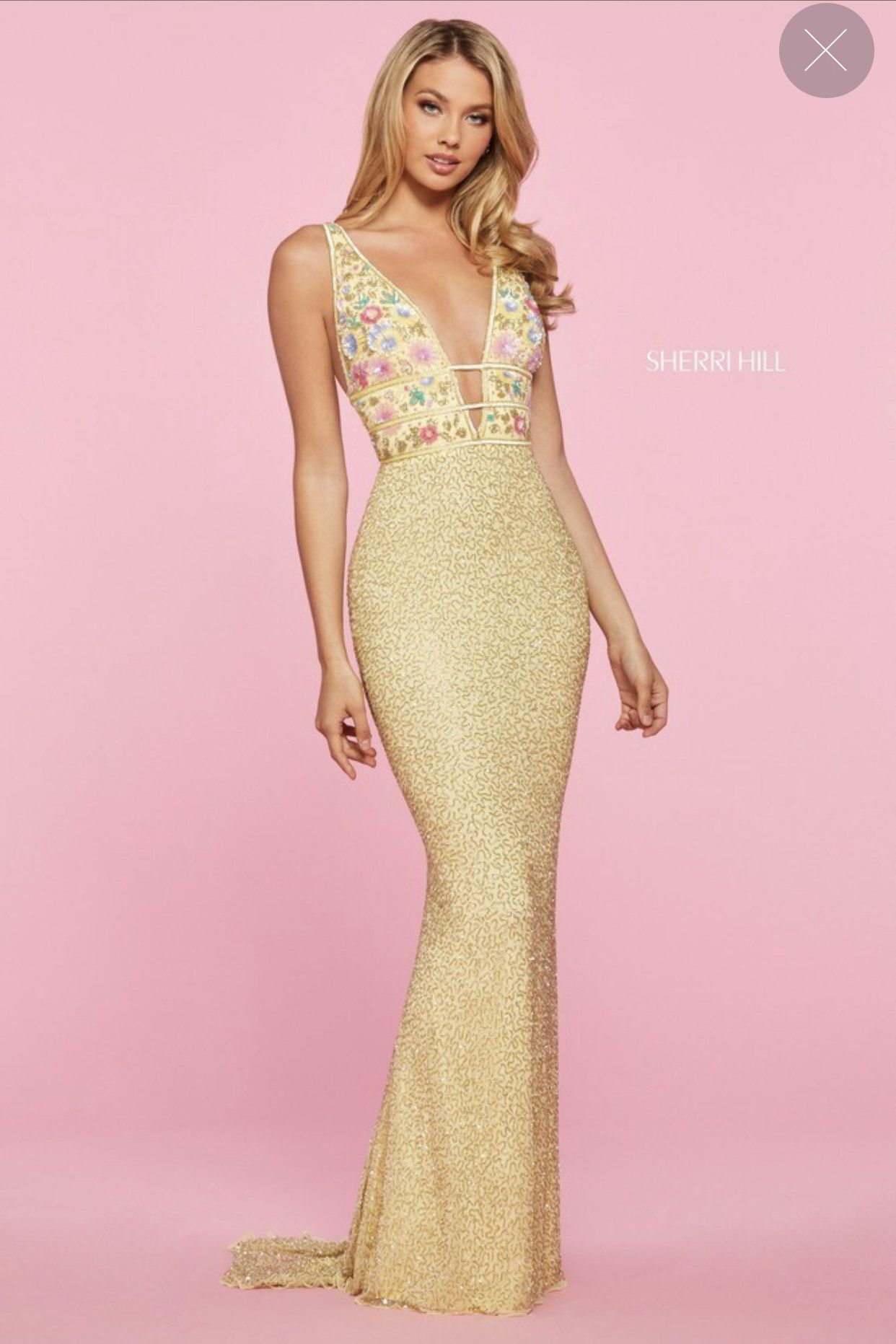 Yellow Size 10 Straight Dress on Queenly