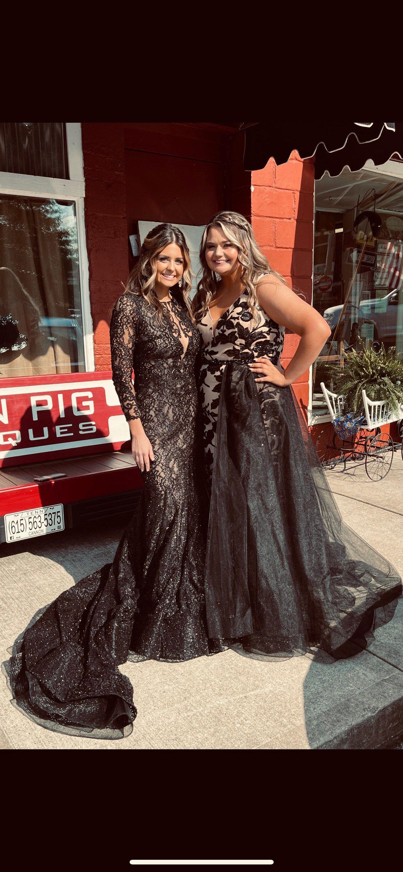 Rachel Allan Black Size 14 Plus Size Mermaid Dress on Queenly
