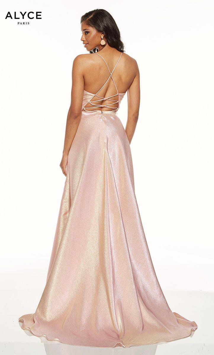 Style 60712 Alyce Paris Light Pink Size 8 A-line Dress on Queenly