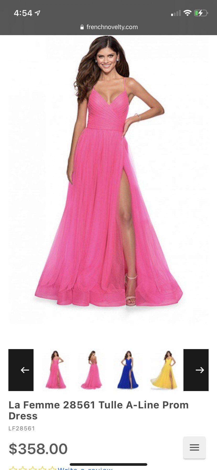 La Femme Hot Pink Size 6 Ball gown on Queenly