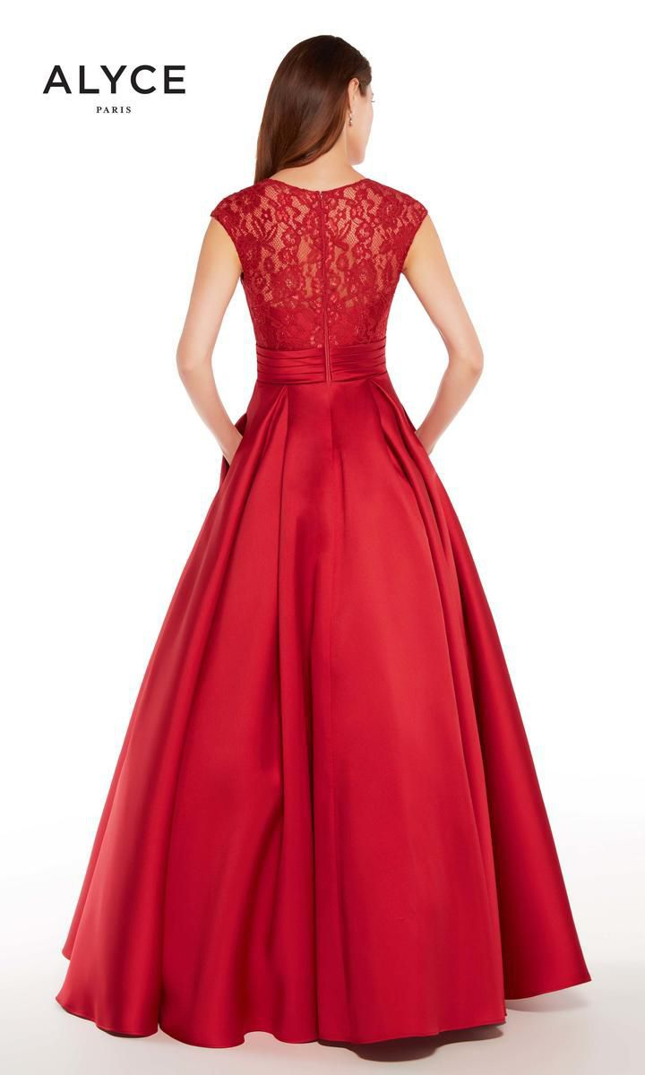 Style 27278 Alyce Paris Red Size 14 Prom Plus Size Ball gown on Queenly