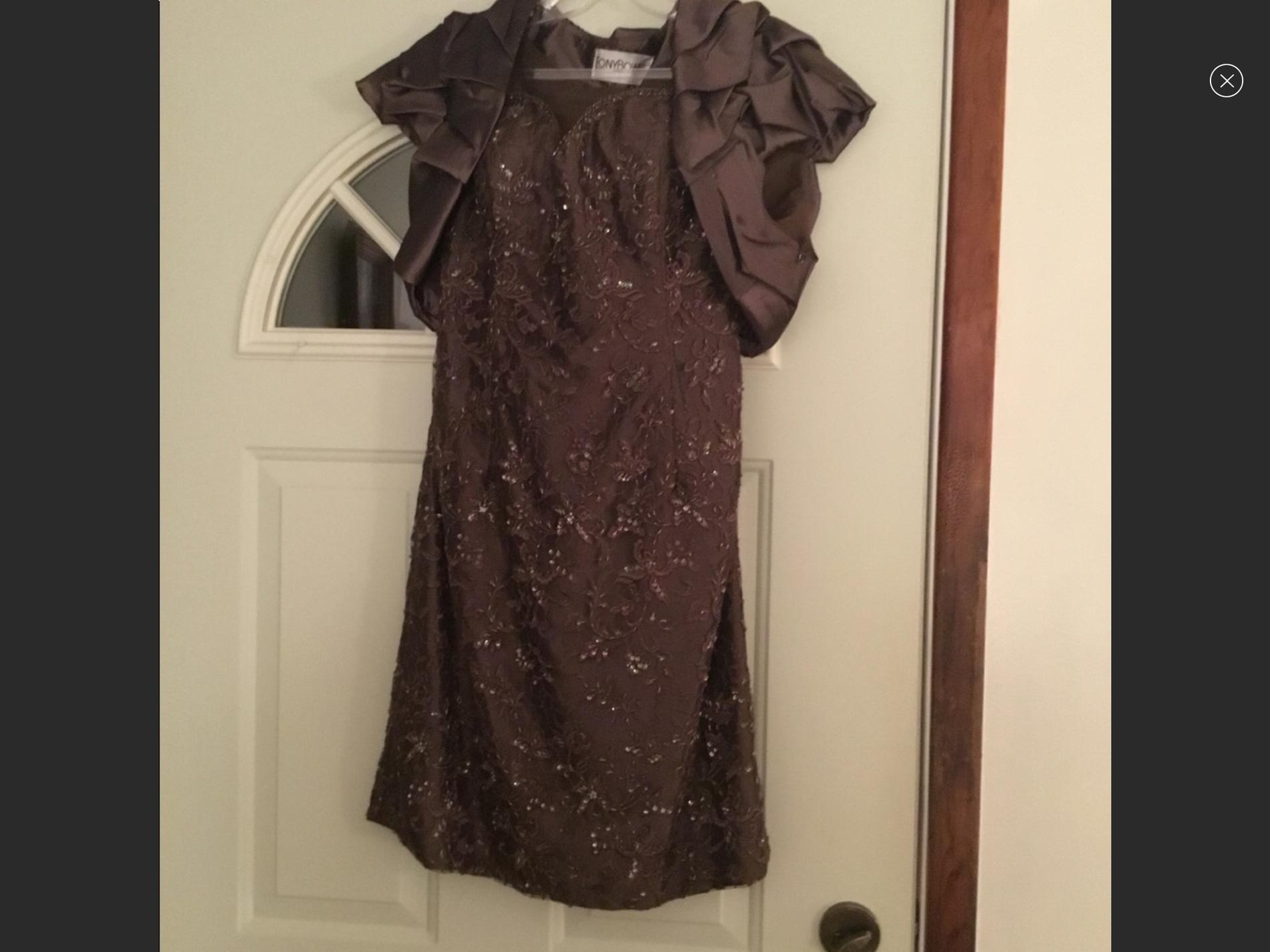 Tony Bowls Multicolor Size 14 Plus Size Cocktail Dress on Queenly