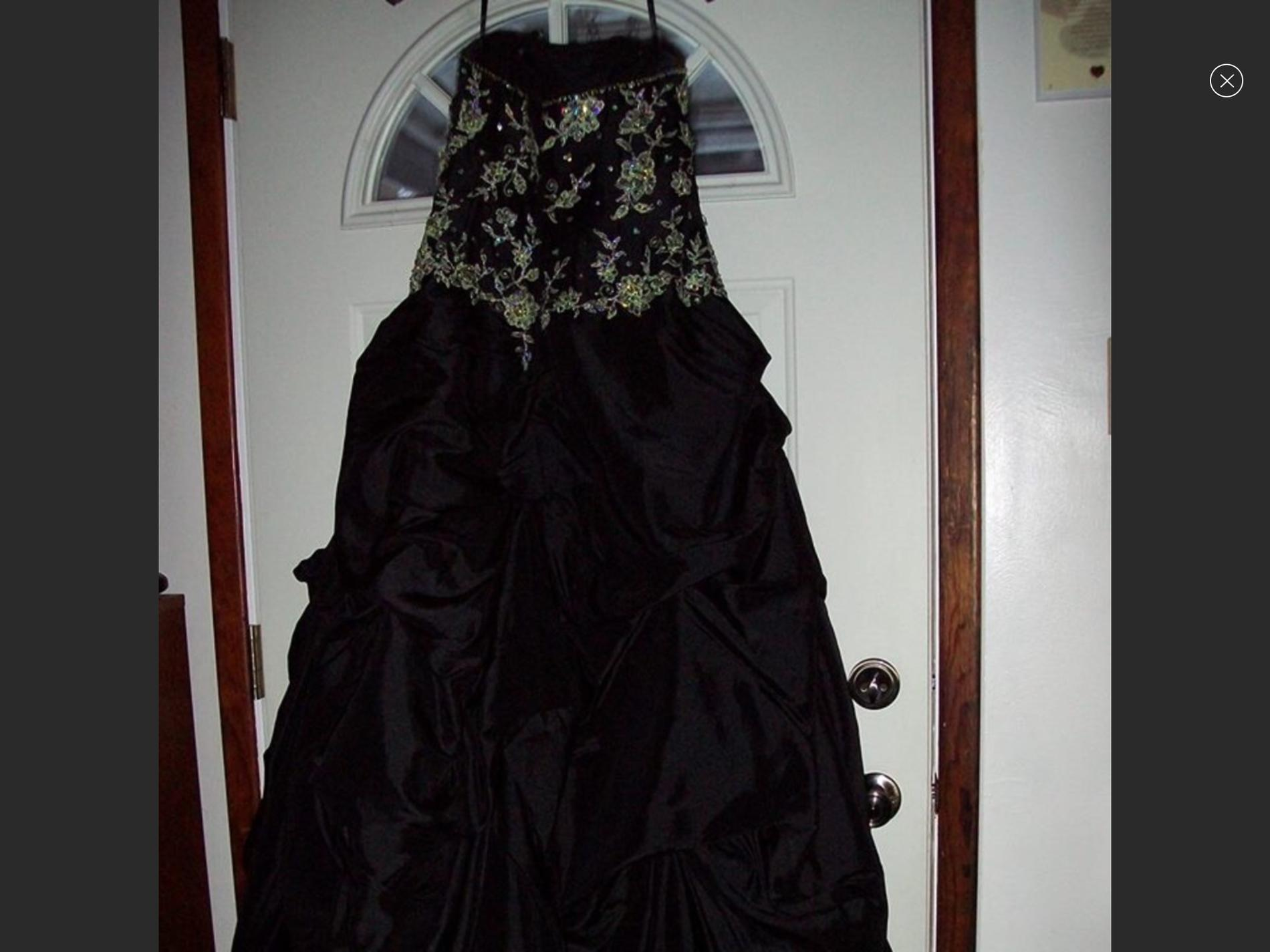 Alyce Black Size 12 Prom Side Slit Ball gown on Queenly
