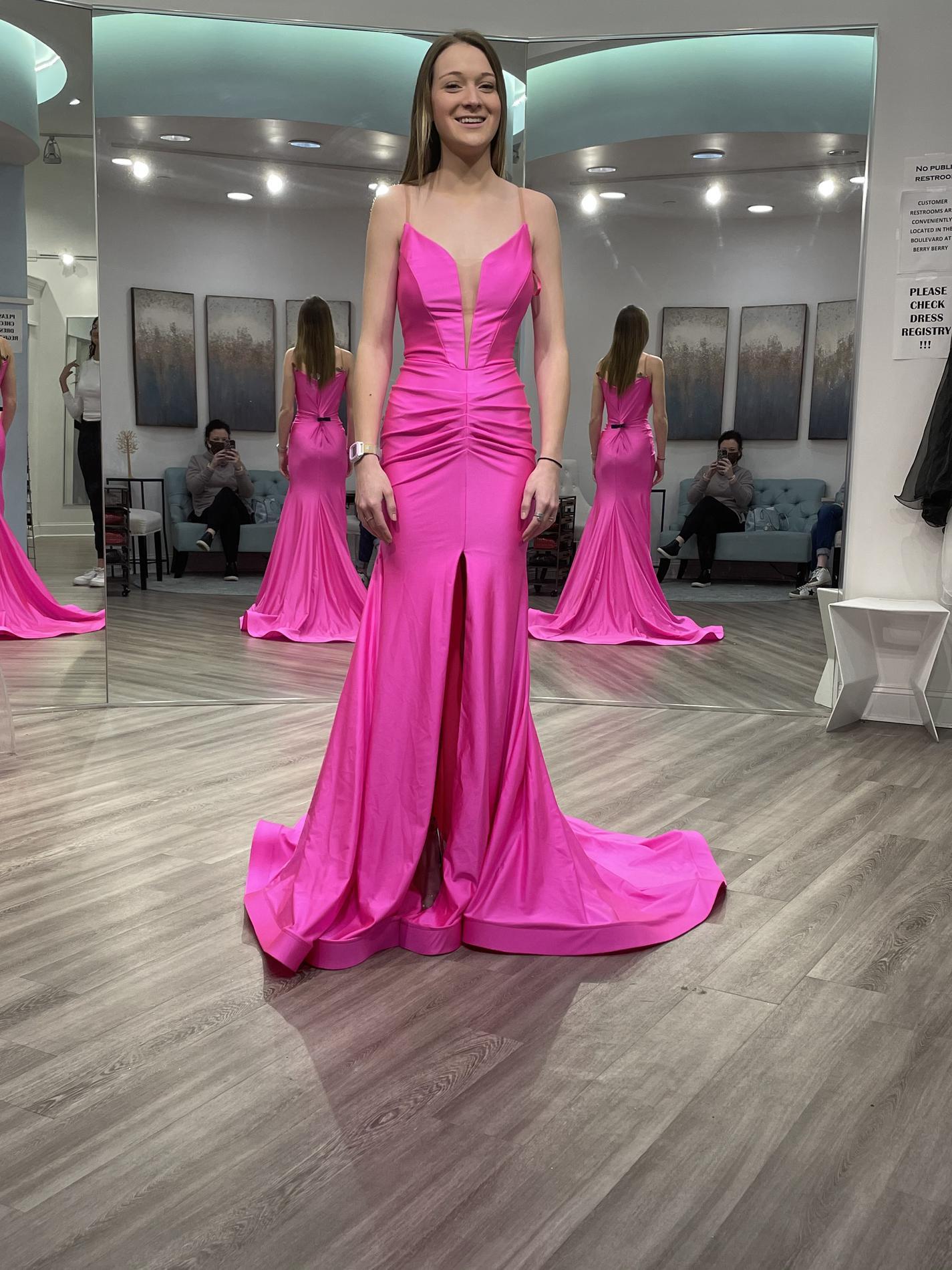 Jessica Angel Pink Size 2 Side slit Dress on Queenly