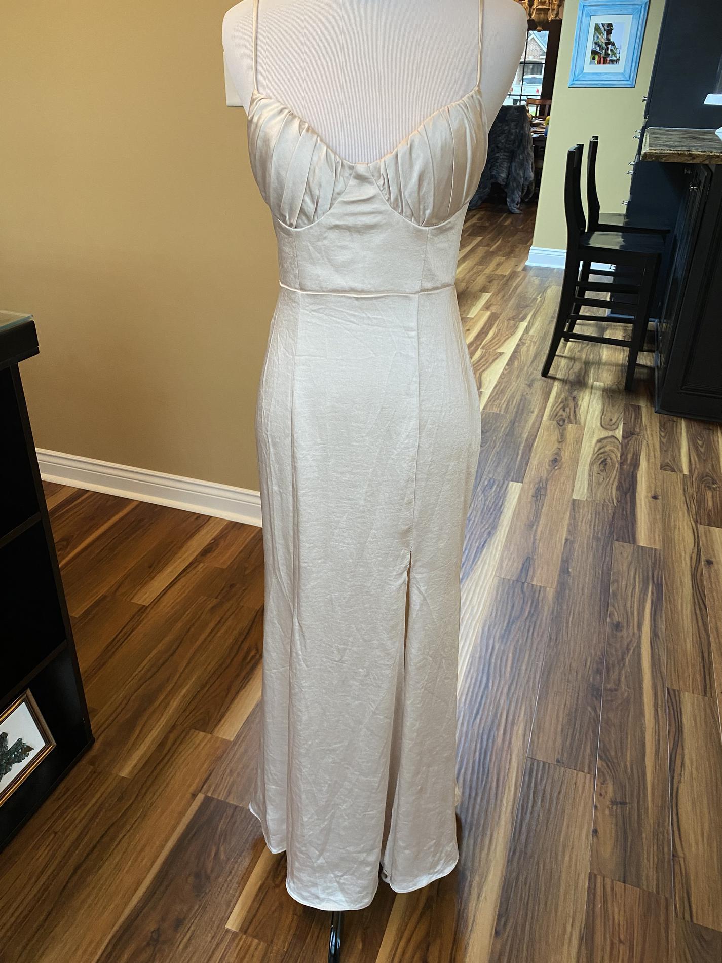 Angel Biba Nude Size 2 Side slit Dress on Queenly