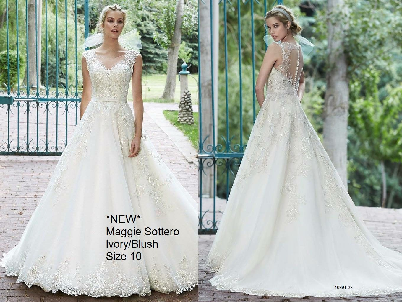 Maggie Sottero White Size 12 Wedding Train Dress on Queenly