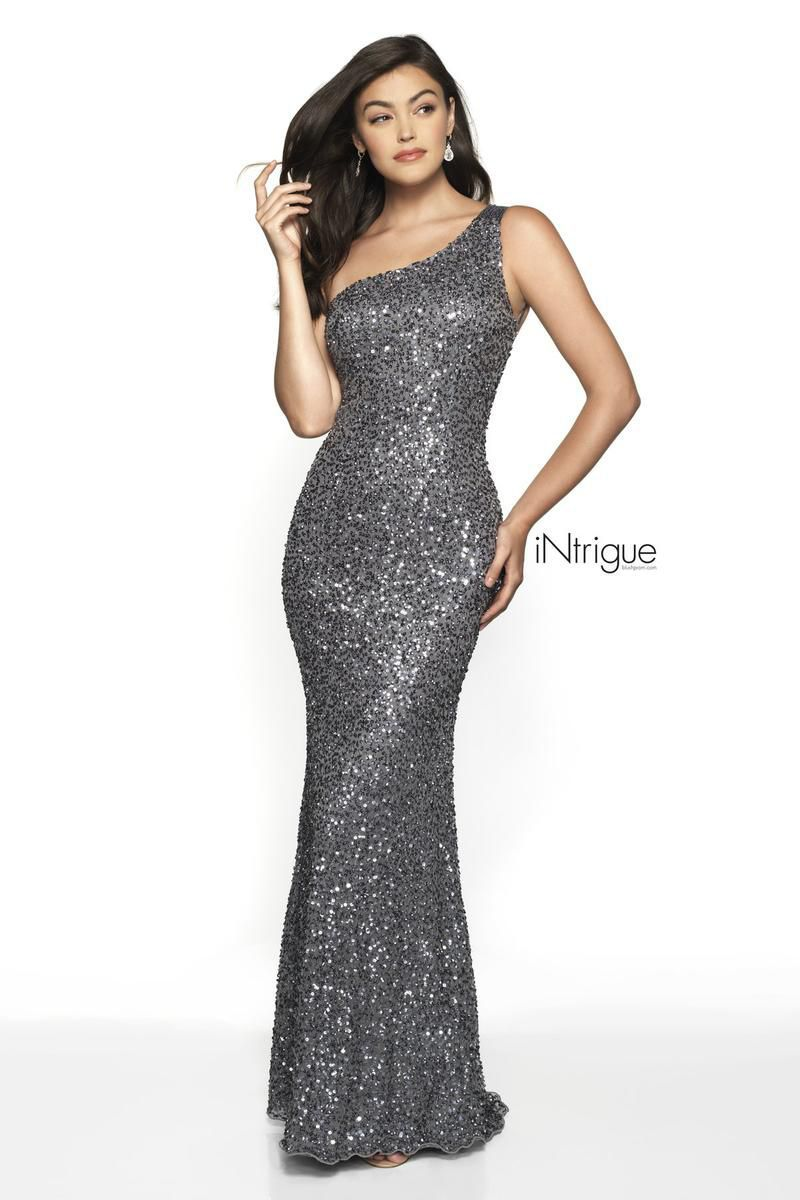 Style 563 Blush Prom Silver Size 4 Pageant One Shoulder Tall Height Mermaid Dress on Queenly