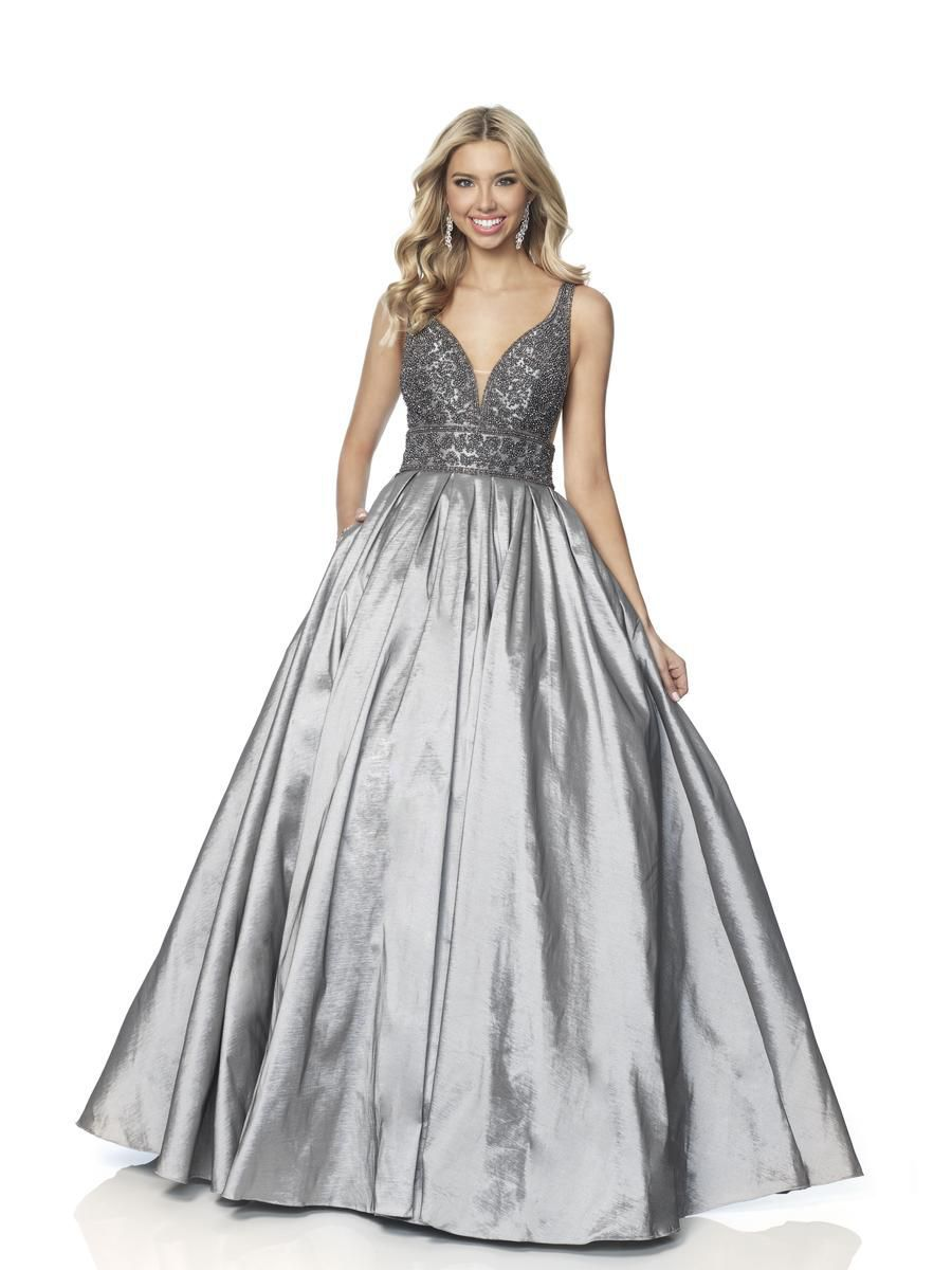 Style 5836 Blush Prom Silver Size 10 Pageant Quinceanera Tall Height Ball gown on Queenly