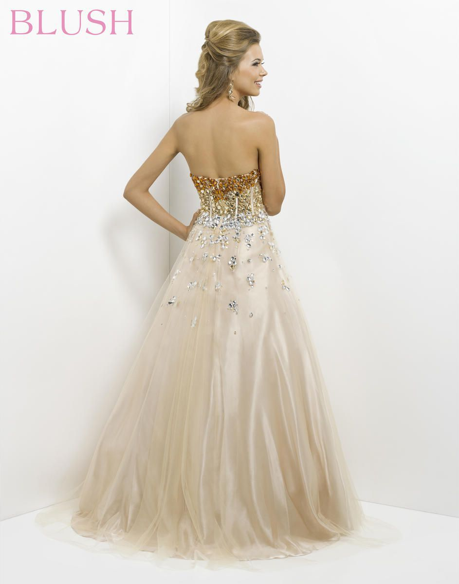 Style 5314 Blush Prom Gold Size 6 Pageant Quinceanera Tulle Tall Height Pink Ball gown on Queenly