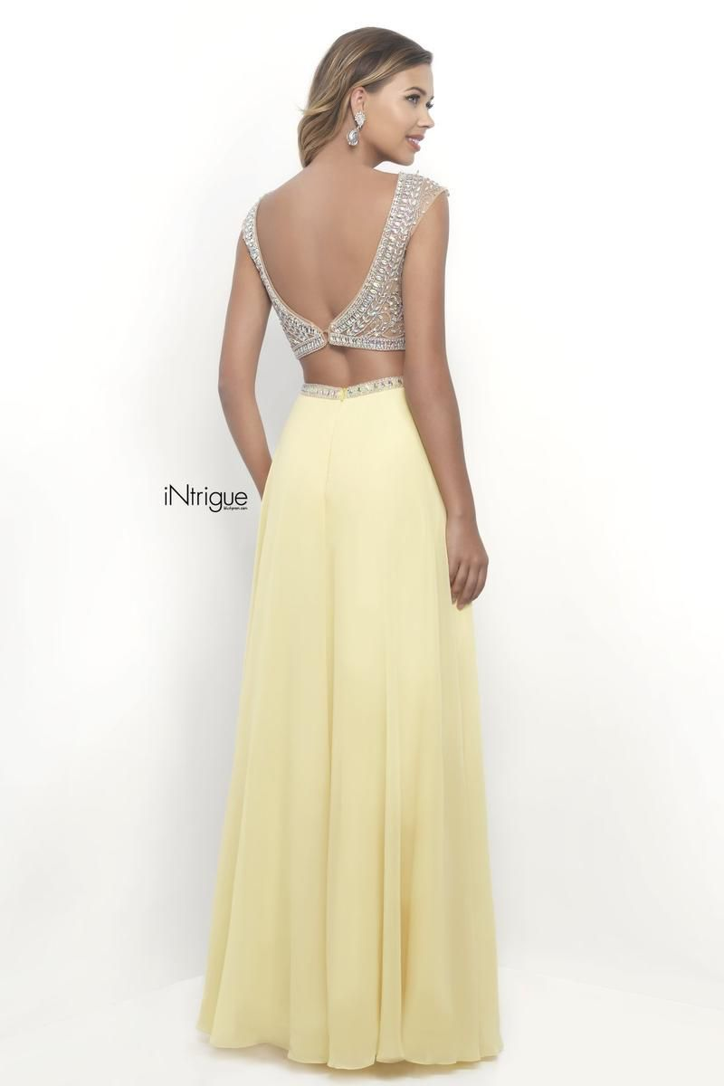 Style 272_Intrigue Blush Prom Yellow Size 8 Pageant Tall Height Straight Dress on Queenly