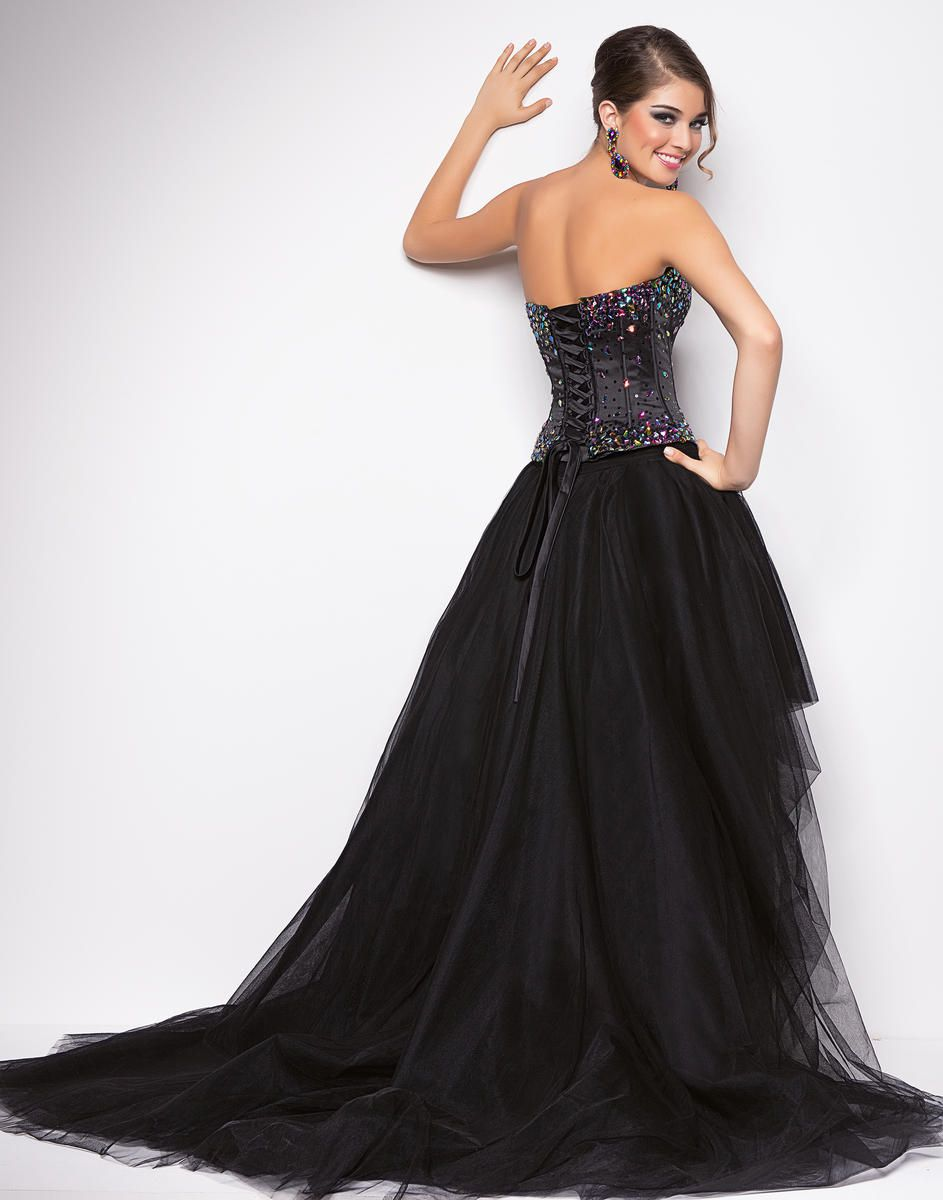 Style 9613 Blush Prom Black Size 12 Pageant Homecoming Quinceanera Tall Height Ball gown on Queenly