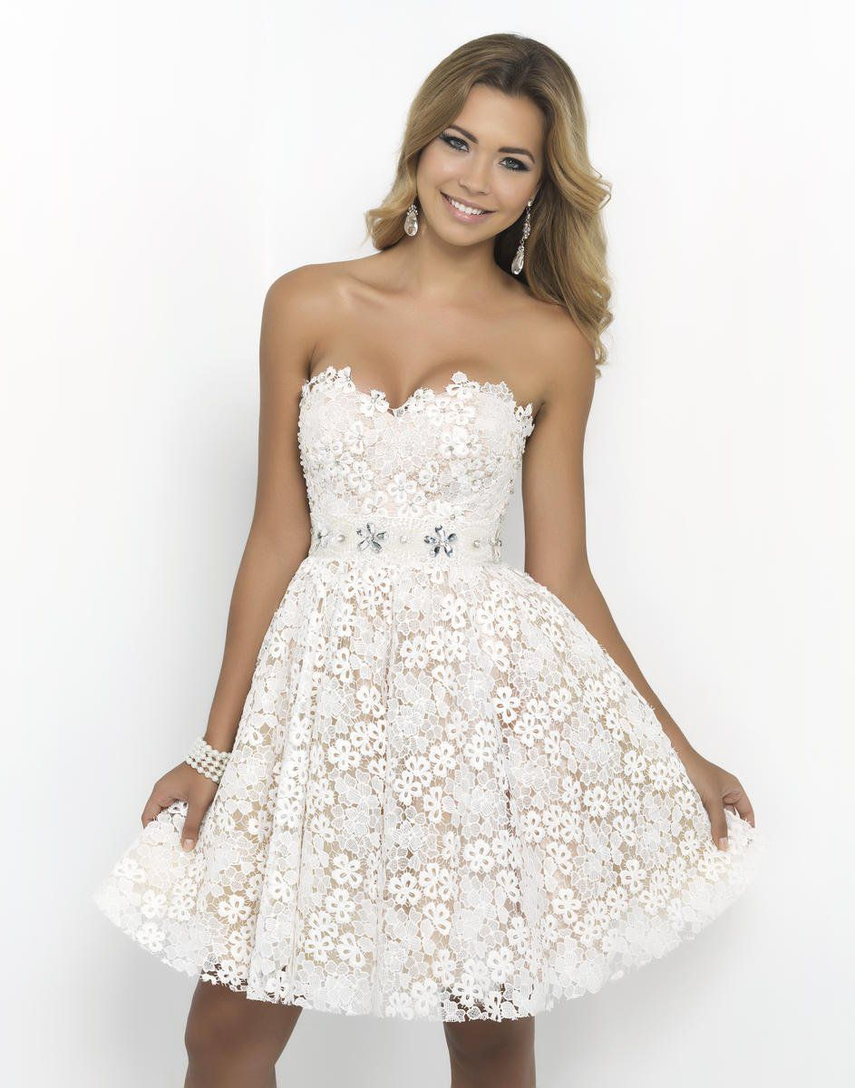 Style 9900 Blush Prom White Size 4 Wedding Mini Sequin Silk Cocktail Dress on Queenly