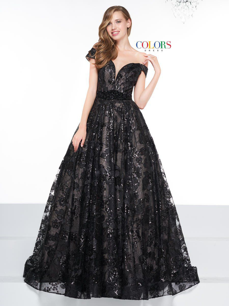 Style 2079 Colors Black Size 12 Pageant Tall Height Lace Ball gown on Queenly