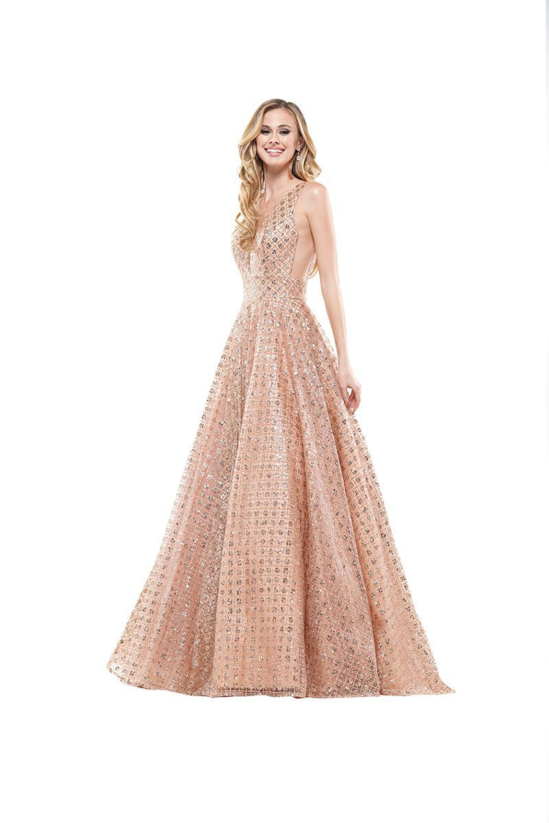 Style 2170 Colors Rose Gold Size 2 Tall Height Pink Ball gown on Queenly